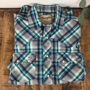 Wrangler Snap Button Western Shirt Men's Medium